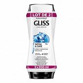 Gliss après-shampooing purify & protect 2x200ml