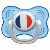 Babycalin sucette 3ème age non fluo - drapeau France