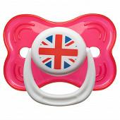 Babycalin sucette 3ème age non fluo - drapeau Angleterre