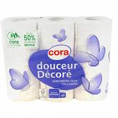 Cora papier toilette décoré 2 plis x6 rouleaux