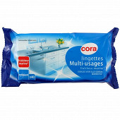 Cora lingettes nettoyantes multi-usages marine recharges x40