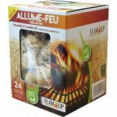 Flam'up allume feu 100% naturel laine de bois + allumettes intégrée x24