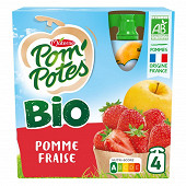 Pom'potes bio pomme fraise 4x90g