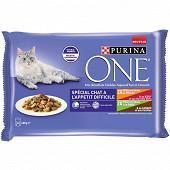 One chat appétit difficile effilés en sauce viandes 4x85g