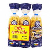 Grand'Mère macaronis coupés 250g lot de 3 prix choc