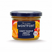 Maison Montfort Confit de mangue Alphonso abricot du Roussillon et gingembre cuit 110g