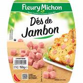 Fleury Michon dés de jambon de Paris 2 x 75g