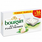Boursin ail et fines herbes 16 portions 256g format familial