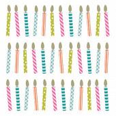 Serviettes x20 bougies 33x33cm 3 plis