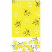 Nappe pliée effet textile 1m40 x 2m20 acidoulus yellow black