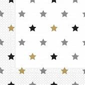 Serviettes x20 étoiles 2 plis
