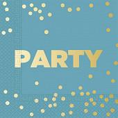 Serviettes x16 party premium metallic 3 plis