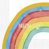 Serviettes x20 rainbow 2 plis