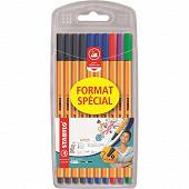 10 feutres d'écriture point 88 ''format spécial'' coloris classiques