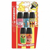 Blister 5 surligneurs boss mini sweet friends - édition limitée