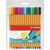 Pochette 15 stylos-feutre point 88 - coloris assortis