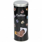 Boîte à café en étain avec couvercle