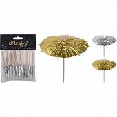 Lot de 20 piques cocktail forme parapluie