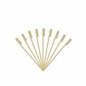50 brochettes bambou 15cm à poignées
