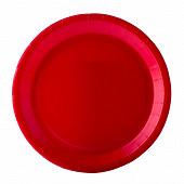 Assiettes x10 rouge 22cm carton biodégradable