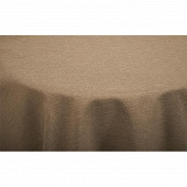 Nappe polyester effet lin ronde diam 180cm coloris taupe