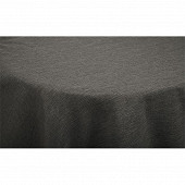 Nappe polyester effet lin ronde diam 180cm coloris anthracite