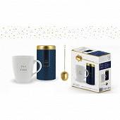 Coffret 3 pièces - Mug + boîte à thé + infuseur
