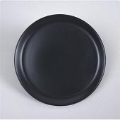 Assiette plate 25cm couleur noire uni brillante