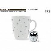 Coffret mug 34cl bombe + infuseur