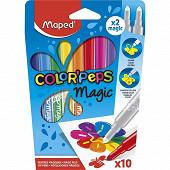 Feutres magiques color'peps x10