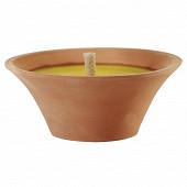 Vasque terre cuite 1 meche extérieure bougie citronelle