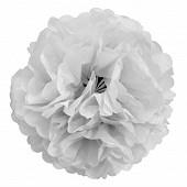3  fleurs de soie 25 cm blanches