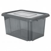Funny box 55l avec couvercle gris acidule