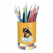 Mon pot à crayons loup