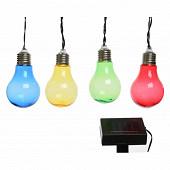 Guirlande solaire 10 ampoules led multicolores