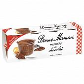 Bonne Maman mousse au chocolat 8x50g format gourmand