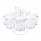 Home Equipement pot de yaourt en verre avec couvercle à visser X 8 - 80155