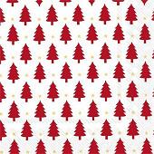 20 Serviettes 33x33cm 3 plis xmas trees rouge