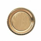 Cora assiettes x10 or ronde 23cm