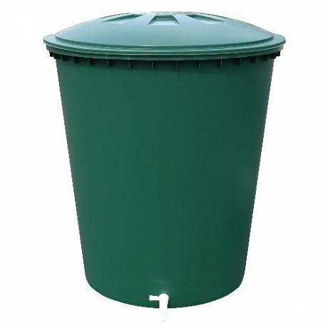 Graf récupérateur d'eau cylindrique 510 litres vert avec couvercle