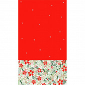 Nappe pliee effet textile 1m40 x 2m20 bowly flowers scarlet