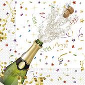 20 Serviettes 33x33cm 3 plis celebration