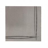Serviettes x40 liseré micro point gris 38x38cm