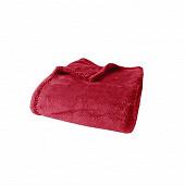 Plaid ultraplush 125x150 rouge