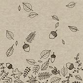 Paquet 25 serviettes 33x33 cm, recycling tissue, 2 plis, Autumnfall