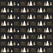 20 Serviettes en ouate 33x33cm 3plis Xmas Sapin Noir