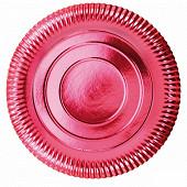 Assiettes x3 de presentation carton rouge 32cm