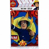 Nappe plastique fireman sam 180x120cm
