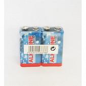2 piles alcalines 9 volts (6LR61)
