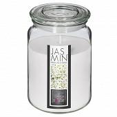 Bougie parfumée Nina dans pot en verre jasmin 510 g